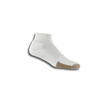 thorlos Men's TMX Tennis Thick Padded Ankle Sock, White Tan Large