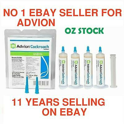 Genuine Syngenta Advion Cockroach 4 x 30g German Roach Gel Bait