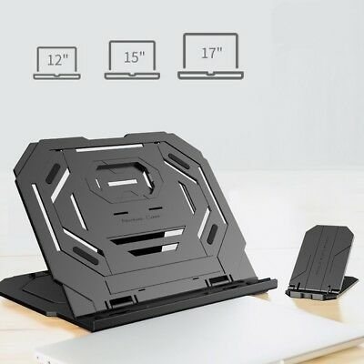 Portable Laptop Phone Stand Adjustable Height Cooling Riser folding bracket W6L5