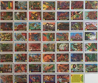 Dinosaurs Attack Card Set 55 Cards and 11 Stickers 1988 Topps