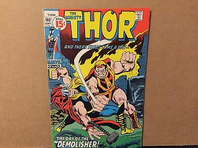 Mighty Thor 192 FN/VF Marvel Comics Last 15 Cent Issue Silver Surfer Appearance