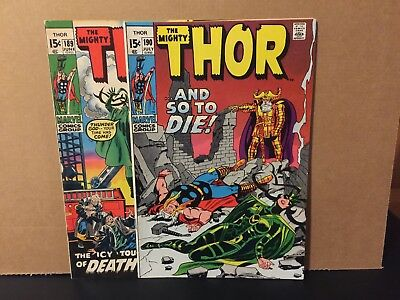 Mighty Thor 189 190 FN/VF Lot Marvel Comics Combine Shipping Hela Covers