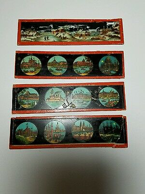 Vintage Ernst Plank Magic Lantern Slides, Venice and Snow Scene