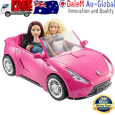 Barbie Convertible Vehicle Two-Seater Car Kids Girls Realistic Toy Sparkly Pink