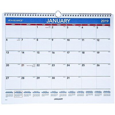 """2019 At-A-Glance PM8-28 Monthly Wall Calendar, 14-7/8 x 11-7/8"""""""