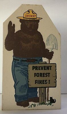 Vintage CATS MEOW VILLAGE SMOKEY THE BEAR Wooden Collectible