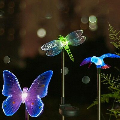 Multicolor LED Solar Light Outdoor Dragonfly/Butterfly/Bird Lawn Lamps Solar LED