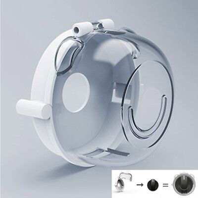 4Pcs/Set Universal Oven Stove Knob Covers Clear View Child Kitchen Baby Safety