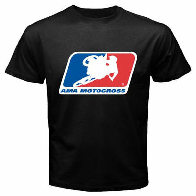 Neu AMA MOTOCROSS Racing Logo Men's Black T-Shirt T shirt S - 5 XL Mann - Frauen