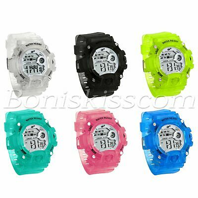 Kids Students Girls Boys Multifunction Alarm Date LED Digital Sports Wrist Watch