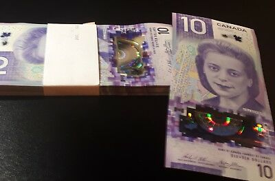 CANADA ~ 2018 $10 Note with VIOLA DESMOND and HUMAN RIGHTS; FIRST PREFIX FTW's