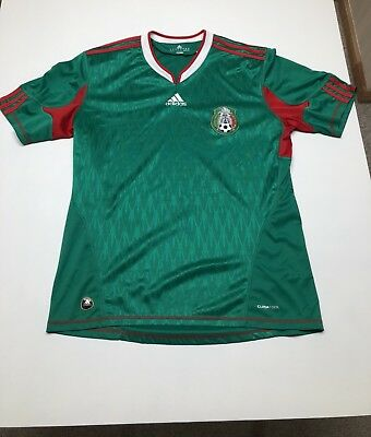 fdc492b6736 Mexico Adidas Soccer Futbol 2010 World Cup Jersey Mens sz L Home Away