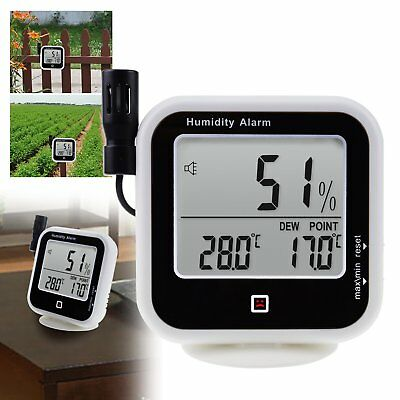 Digital Indoor / Outdoor Thermo-Hygrometer Dew Point Humidity Temperature Meter