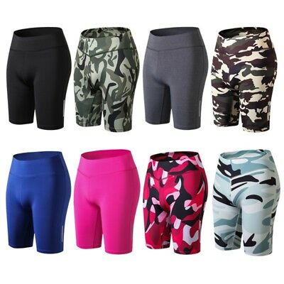 Women Girls Compression Sport Shorts Quick Dry Yoga Fitness Gym Pants Tights AU
