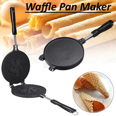 Waffle Pan Maker Non-stick Press Plates Mould Baking Iron Mold Plum Blossom Tool