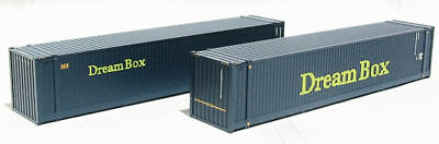 Bachmann 36-102 - 2 x 45' Containers 'Dream Box' Blue '00 Gauge' Tracked 48 Post