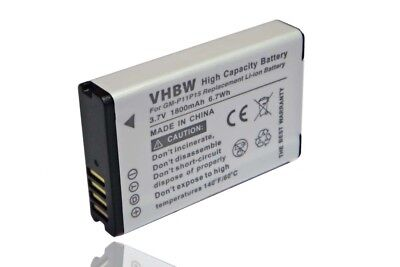 BATTERIA VHBW 1800mAh PER GARMIN VIRB, VIRB Elite, Elite Action HD Camera 1.4