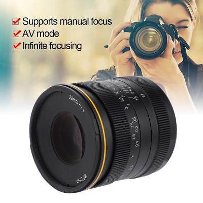Kamlan 28mm F1.4 APS-C Large Manual Focus Lens For Fuji-X Mirrorless Cameras
