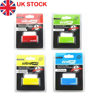 ECO OBD2 DETECTOR FLASHER FUEL POWER ECONOMY Chip Tuning Box for Petrol Cars rle