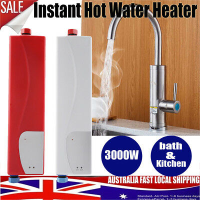 3000W Portable Instant Electric Hot Water Heater System Under Sink Tap G1/2''