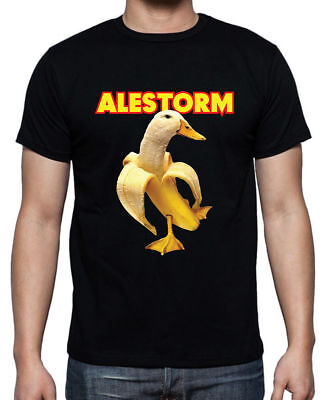 Popular New ALESTORM - Banana Duck Gildan Black T-shirt S- 5 XL Mann - Frauen