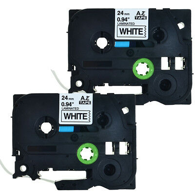 2PK TZe251 P-Touch Label Tape Compatible for Brother P-Touch TZ Tape 24mm White