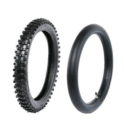 70/100-17'' Knobby Front Tire with Inner Tube for Honda Yamaha Pit Dirt Pro Bike
