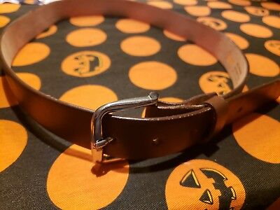 Kids Brown Leather Belt Size 30 Made in Mexico