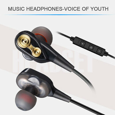 35mm With Mic Super Bass Music In ear Stereo Headphone Headset Earphone Earbuds