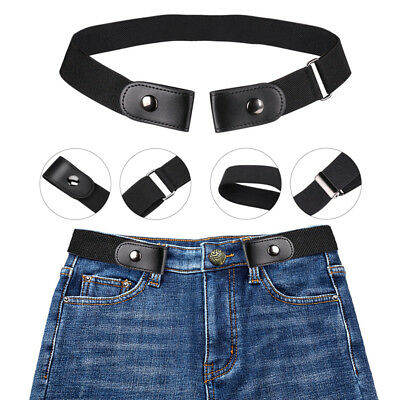 Buckle-free Elastic Women Waist Belt Invisible Belt for Jeans No Bulge  Gift
