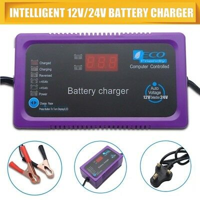 12V/24V 200AH Electric Car Dry&wet Battery Charger Intelligent Pulse Repair