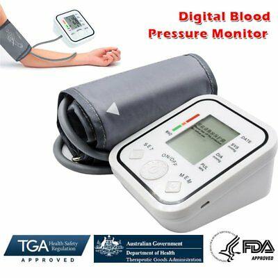 Digital Upper Arm Blood Pressure Monitor Heart Beat Meter Pulse Machine