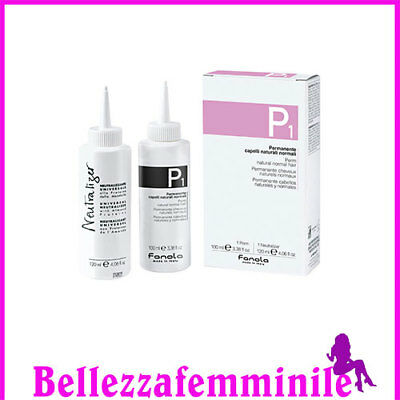 Fanola Kit permanente P1 per capelli naturali normali 100ml+neutralizzante 120ml