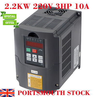 2.2KW 220V 3HP 10A Variable Frequency Drive Inverter VFD Speed Control CE