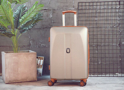 D48 Champagne Universal Wheel Coded Lock Travel Suitcase Luggage 24 Inches W