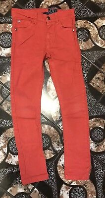Boys Red Skinny Jeans Next Age 7