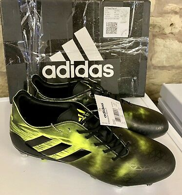 Adidas Crazyquick Malice Sg Rugby Boots Black Yellow Uk 10 New Boxed