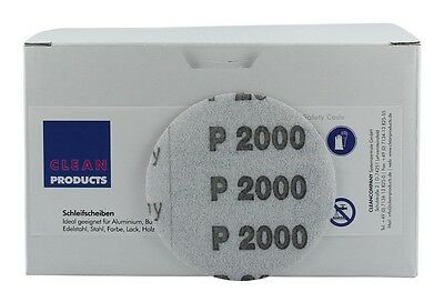 Cleanproducts P2000 75 mm Disques Abrasifs Protection ( non Perforé, Scratch)