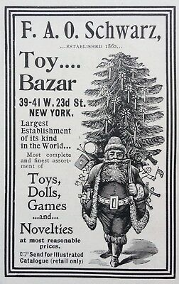 1897 Ad(1800-36)~F.a.o. Schwarz Co. Nyc. Toys, Dolls And Games For Christmas