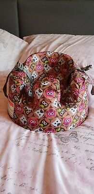 Pink bumbo seat and Owl design Cover & Harness