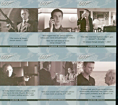 James Bond 007 - Quotable Casino Royale - Complete Card Set (6) - NM