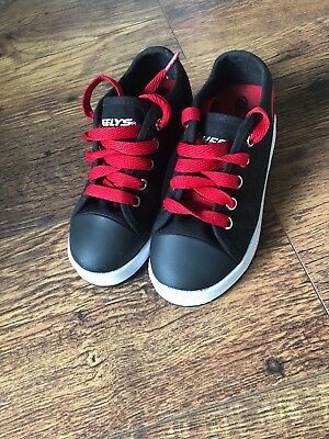Boys Black And Red Heeleys Size 12