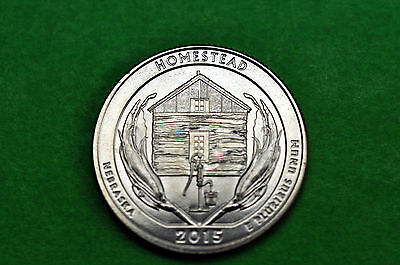2015-D   BU Mint State (Homestead National Monument) US National Park Quarter