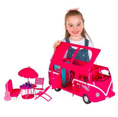 Steffi Love Hawaii Camper Van Kids Playtime Toy With 50 Camping Accessories Gift