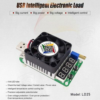 RD LD25 Electronic Load Resistor USB Interface Discharge Battery Tester
