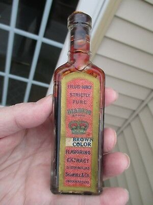 Antique Indianapolis, Ind. Diadem Brand (Crown) Schull & Co. Flavoring Extract