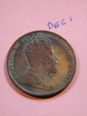 #25, NewFoundLand 1909, Canadian Large Cent Coin