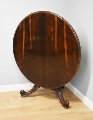 Early 19th Century Rosewood Circular Breakfast Table by T Wilson, London