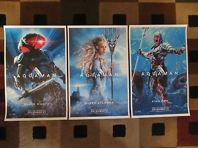 "AQUAMAN ( 11"" X 17"" ) Movie Collector's Poster Prints ( Set of 3 )"