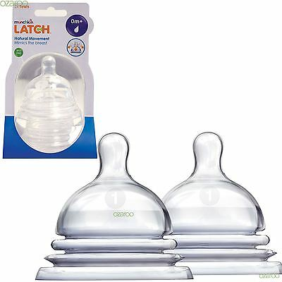 Munchkin LATCH Stage 1 Slow Flow Teat, Stretches and Moves - Pack of Two Teats